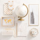 White and Gold Home Accessories 5TH AVENUE | Houses of the world