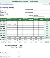 Timesheet Templates Excel     Week Versions  Tool Store And