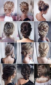 Hairstyles wedding | 26 Gorgeous Updo Wedding – # Hairstyles # Hairstyles Middle Hair #Gorgeous #Wedding #Updo