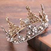Details about Luxury All CZ Cubic Zirconia Drip Floral Wedding Party Pageant Prom Tiara Crown