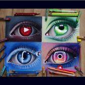 So beautiful!! Social media eyes!! By @nadia_kshl #arts #art #artworks…   – Body art – μελανι
