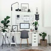10 weibliche Büros für diejenigen, die von zu Hause aus arbeiten ~ Dekorieren und Ideen – Angelica Heitzinger Dekoration Blog