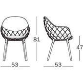 Magis Piña Sessel Sitzschale schwarz Esche schwarz lackiert Innenpolster Kvadrat Steelcut 2 schwarz – Products