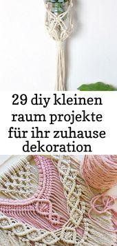 29 diy kleinen raum projekte für ihr zuhause dekoration