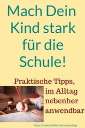 Make your child strong for school – and for life! With practical tips. – Eltern wissen sollten