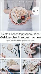DIY Geldgeschenk für Hochzeit basteln – Yeah Handmade DIY Projekte | Basteln und Selbermachen