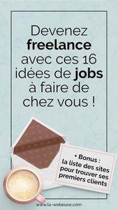 Travail à domicile : 20 idées pour devenir Freelance Web indépendant