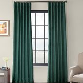 Ivy Bronx Designer Chambray Textured Solid Room Darkening Rod Pocket Single Curtain Panel