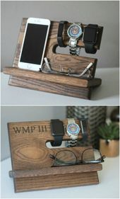 25 male DIY Father's Day gifts made from upcycling materials Woodworking Id …