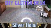 DIY Glitter table top! | Epoxy Resin | HOLO!! – Yo…