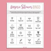 Lingerie Shower Bingo – Free Digital Download