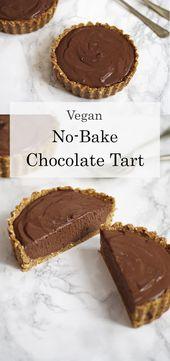 Vegan No-Bake Chocolate Tart