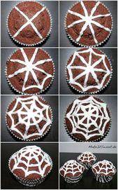 Halloween kommt bald. Ich liebe bunt dekorierte Cupcakes und Halloween ist …   – Halloween