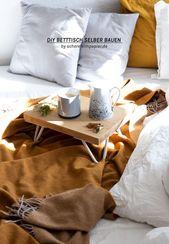 Bett Tablett selber machen – ein DIY Projekt mit Kaffeesatz