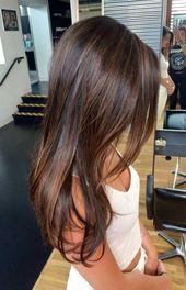 49 Schöne hellbraune Haarfarbe für einen neuen Look Wunderschönes Balayage-Haar …   – cheveux