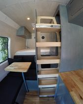 20+ Awesome Wood Interior Ideas for Sprinter Van Camper