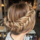 40 chic, messy updos for long hair – Wedding hair #Braided hairstyles #Hairstyles wedding #dresses