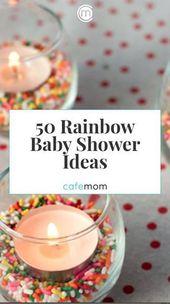 Regenbogen Baby Dusche DIY Dekorationen, Spiele, Kunsthandwerk …