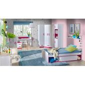 Children's room – sliding door cabinet / wardrobe Frank 14, color: white / ro …  – Products