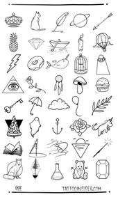 80 kostenlose kleine TattooDesigns #kleine #kostenlose #tattoofrauenkleines #TA