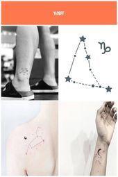 Aquarius Constellation Tattoo On The Ankle Ankle Aquarius