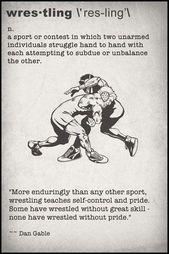 Definition Card – Wrestling : Scrappin Sports Stuff