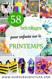 58 bricolages de printemps pour les enfants –