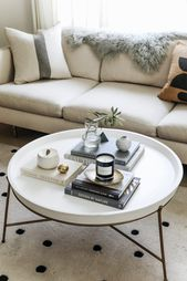 Coffee Table Styling Tips for Round Coffee Tables