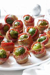 Bacon Wrapped Roasted Brussels Sprouts – Zarte Güte von Rosenkohl und
