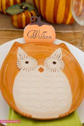 Thanksgiving Place Cards Printable – Rustic Pumpkins