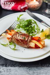 Minute steak rolls with seasonal veg