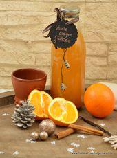 Weißer Vanilleorangen-Glühwein auch als Geschenkidee   – Essen