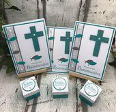 Baby Cards Einladungskarten und Gastgeschenke zur Kommunion Framelits Kreuz der Hoffnung St...