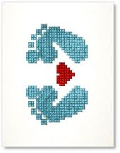 Baby Cards Adorable embroidery cards. Ideal for girl or boy baby shower or new baby congrat...