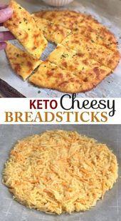 4 ingrédients KETO Recette de baguettes au fromage et à l'ail | À la recherche de collations à faible teneur en glucides …