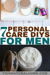 7 + Körperpflege DIYs für Männer – Gifts
