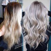 20 Ideen für Haarfarben: Platinblondes Haar   – Frisuren