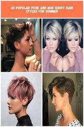 Les coiffures courtes, qui sont souvent préférées par les femmes, sont très populaires en été …   – paper-towel-crafts