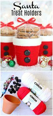 DIY Christmas Treat Holder: Santa Cup – Consumer Crafts
