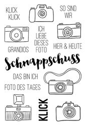Klick CameraTransparent Klarer Silikon Stempel/Dichtung für DIY scrapbooking/fo…