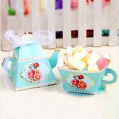 5Pcs Creative European Candy Boxes Teapot Tea Cup Party Favors Wedding Gifts Box for Guests Bridal Shower Birthday Party Candy Box Favors Decoration | Wish