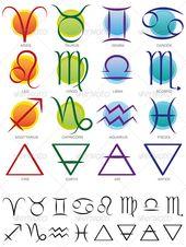 Zodiac & Elements Sign and Symbol set – Decorative Symbols Decorative