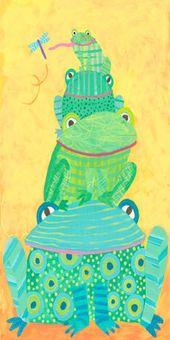 Arte de la lona de la pila de la rana   – Elementary Lessons