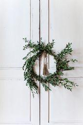 12 couronnes de Noël modernes et minimalistes – Noël 2019