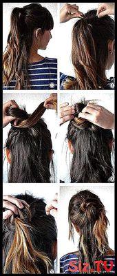Frisuren für die Schule mit Pony lange geschichtet 47 Ideen Frisuren für die Schule mit Pony …