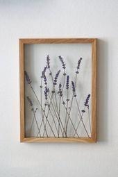 Lavendel Kunst, gepresster Blumenrahmen von MyBotanica   – BOTANICS