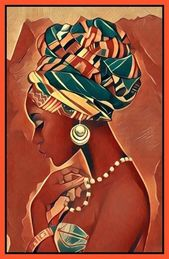 African Beauty Canvas print wall hanging for your wall space ready comes ready to display(new)