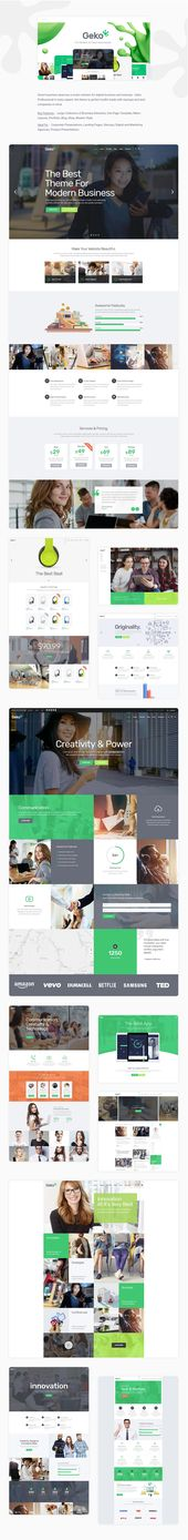 Geko – Smart Theme for Digital Businesses and Startups