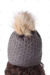 Chic Pompons Design Lattice Knitting Hat For Women  – Challenged