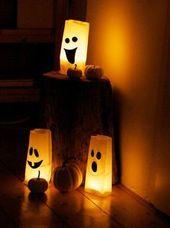 Gespenstische Windlichter zu Halloween